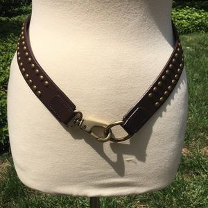 Banana Republic Brown and Gold Stud Leather Belt